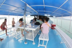 upper deck between dives