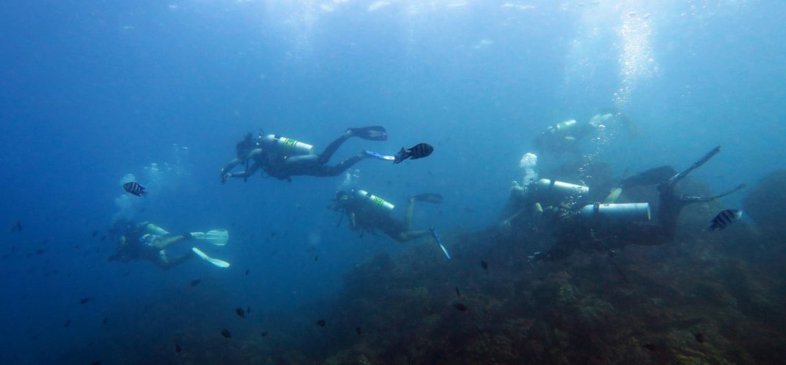 Similan Islands divers