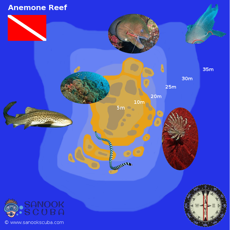 Anemone Reef Phuket dive site map