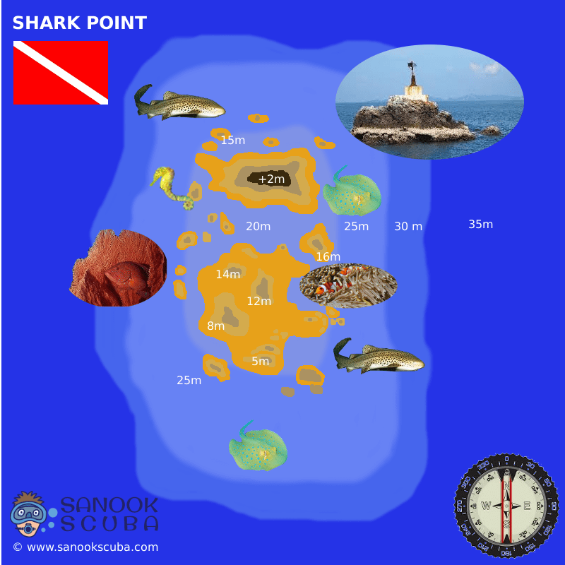 Shark Point Phuket dive site map