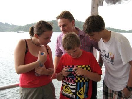 Children on Oktavia Similan Islands liveaboard