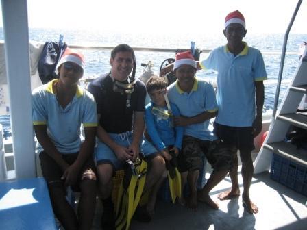 Christmas on Oktavia Similan Islands liveaboard