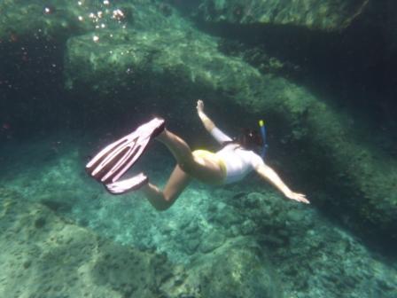 Free diving at the Similan Islands